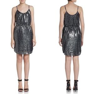 Rebecca Taylor Navy Sequin Slip Dress NWT (10)